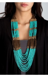 Colorblock Seed Bead Necklace ($10.50, Charlotte Russe)
